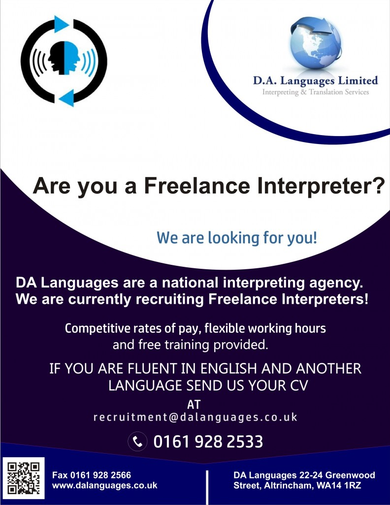 DA Langauges - Are you a Freelance Interpreter